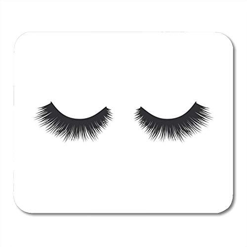 Gaming Mouse Pad Black Eyelash Eye Lashes Lash Fake Makeup Beauty Close Model Woman 25X30 Cm Mouse Mat