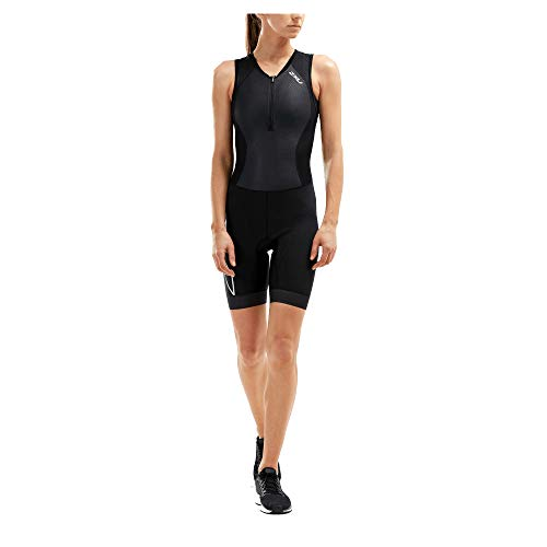 2XU UK Damen Compression Triathlon Suit-WT5522d Tri Suit, schwarz/schwarz, L
