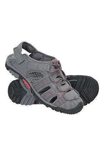 Mountain Warehouse Winter Trek Mens Shandal - néoprène été supérieure Chaussures Sandales, Doublure Douce, Durable Semelle Chaussures, Semelle intermédiaire en EVA Gris foncé 44