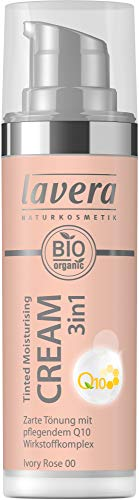 Lavera Bio Tinted Moisturising Cream 3in1 Q10 -Ivory Rose 00- (6 x 30 ml)