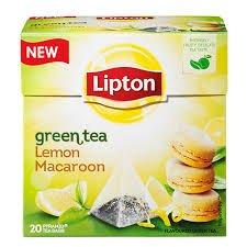 Lipton - Grüner Tee Zitrone Makrone (Neu) Teebeutel - Verpackte Boxen Mit 8 x 20 Beutel = 160 Pyramiden Beutel