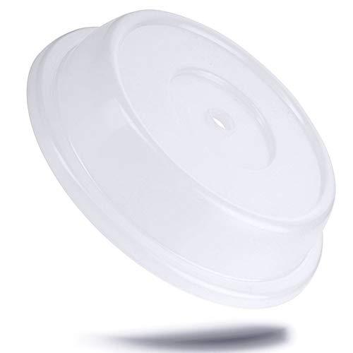 Kerafactum Cloche pour assiette - Cloche pour micro-ondes - en polypropylène Protection anti-éclaboussures - Double trou de préhension - Empilable