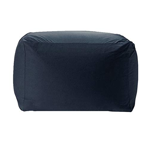 WXFN Quadratischer Sitzsackbezug Gaming Chair Recliner Wohnzimmer Reclining Sofa Gamer Stuhl Ohne Füllung, Für Erwachsene Und Kinder,Deep Blue
