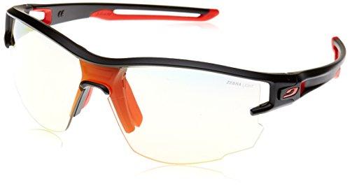 Julbo Men's Aero Sunglasses,Black/Red,One Size