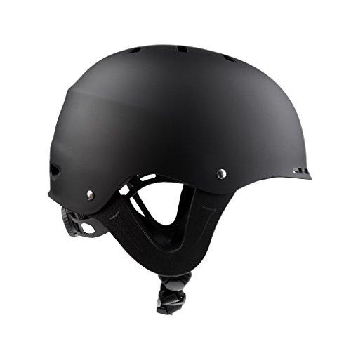Baoblaze Casco Kayak Cappello di Sicurezza per Gli Sport Acquatici Sci Rafting Dumb Black M/L - Dumb Nero, M