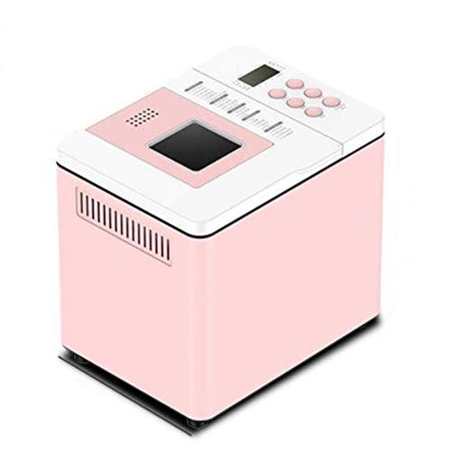 ZZXXB Toaster, Automatischer Start Kleine Intelligent Frühstück Softeis EIN Knopf Doppelrohr-Backen 22 Artikel Smart-Menü Bread Maker Rosa 550w Judith