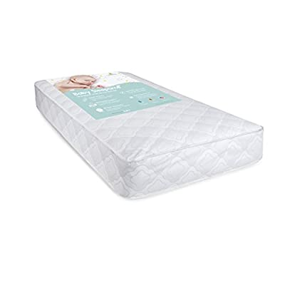 "Big Oshi Full Size Baby Crib Mattress - 5.8"" Thick - Orthopedic Innerspring Mattress - 96 Coil Springs - with Waterproof Cover - Make Clean up Easy - Safe, Hypoallergenic Material - White, 52""x27.5"""