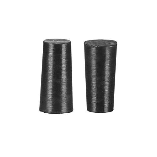 Tapones de silicona de alta temperatura en forma cónica de silicona sólida con tapón negro perfecto para el revestimiento en polvo anodizado chapado 2,9 x 3,5 x 7 20 unidades
