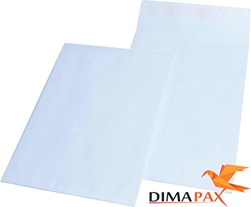 100 Vouwzakken C4 229x324x40 mm zonder ramen zelfdichting wit