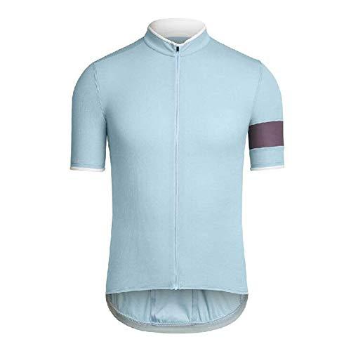 ETbotu Fietskleding, hemd met korte mouwen met ritssluiting, casual, sneldrogend, voor dames en heren