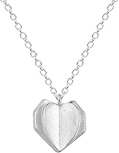 YOUZYHG co.,ltd Collar Collares Joyería del Tiempo Corazón de Amor Fresco Colgante Original de Clarbit Color Plateado Collar antialérgico H52 Collar de Regalo