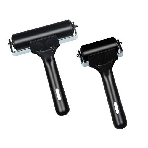 LAITER 2 PCS Rubber Brayer Roller Ink Printing Rubber Roller for Art Relief...