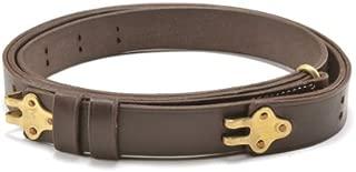 World War Supply M1907 Military Style Leather Rifle Sling Brass Hardware Dark Brown M1 Garand, M14, 1903 Springfield