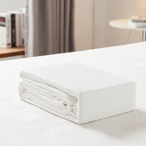 UTTU Protector de colchón 100% bambú, impermeable, 60 x 120 cm, 2 unidades, transpirable, antialérgico, antiácaros, protector de colchón para bebés, niños y mascotas [60 x 200]