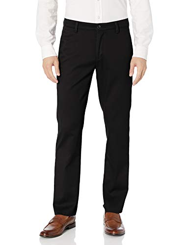 Dockers Men's Slim Fit Easy Khaki Pants, Black (Stretch), 32W x 32L
