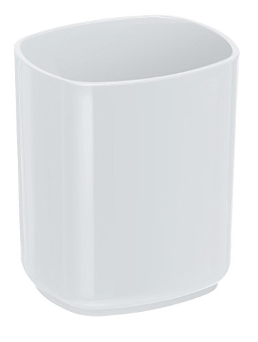 Acrimet Jumbo Pencil Cup Caddy Holder Desktop Organizer (Plastic) (White Color)