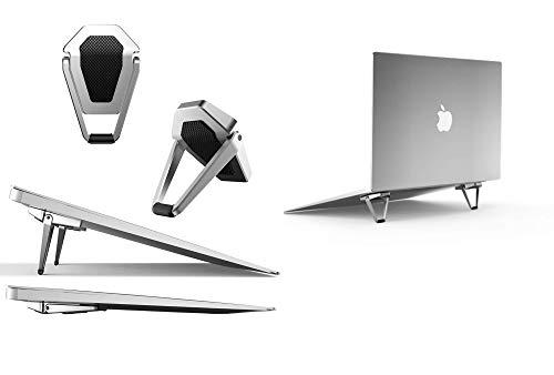 Mywillon Soporte para ordenador portátil plegable – Mini soporte ergonómico invisible tableta teclado inalámbrico accesorio juegos Macbook Pro Apple Asus Laptop Stand antideslizante