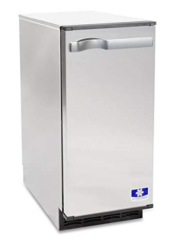 Manitowoc SM-50A 14 3/4' Air Cooled Undercounter Octagonal Cube Ice Machine with 25 lb. Bin - 53 lb. With Pump