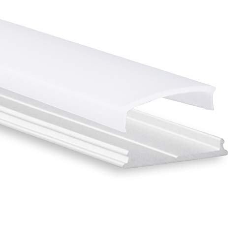 3 x LED Aluminium Profil P13 Atria LED Profil biegsam 2 m für LED Streifen + Abdeckung Opal (milchige Abdeckung) LED Aluprofil biegbar