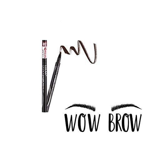 Pamura - Wow Brow - Augenbrauenstift wasserfest - wischfest - schweißresistent - Tattoo Augenbrauenstift - Microblading Augenbrauenstift - Permanent Make Up - 4Punkt Spitze - Dunkellbraun