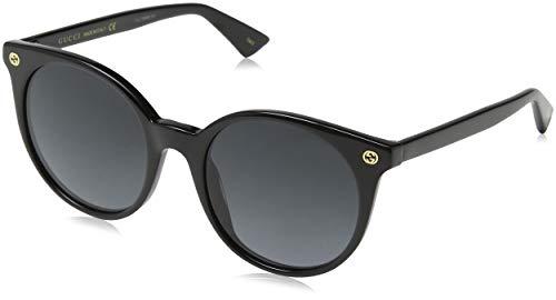 Gucci GG0091S 001 Occhiali da Sole, Nero (Black/Grey), 52 Donna