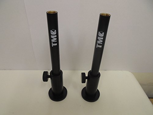 """with 6 x 5/"""" inserts. 6 x TMC Anodized Aluminium Stage stands with locking nuts"""