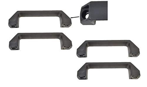 FKAnhängerteile 4 Stück Handgriff/Rangiergriff Kunststoff schwarz