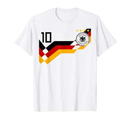 Germany Retro 1990 Football Jersey Deutschland T-Shirt T-Shirt