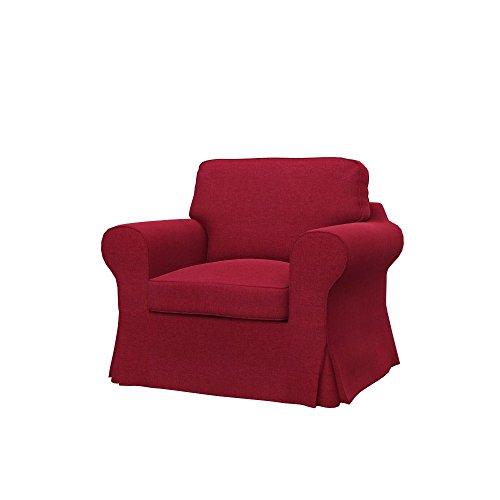 Soferia Fodera di ricambio per IKEA EKTORP poltrona, tessuto Classic Red, rosso