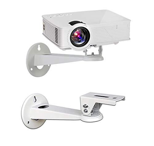 Drsn Mini Beamer Halterung für Wand - 20cm - Traglast 3 kg - 360° Schwenkbar, für CCTV/Kamera/Projektor/Webcam, CCTV-Sicherheitskamera-Gehäuse-Halterung - Weiß