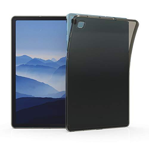 kwmobile Hülle kompatibel mit Samsung Galaxy Tab S6 Lite - Silikon Case transparent - Tablet Cover Schwarz Transparent