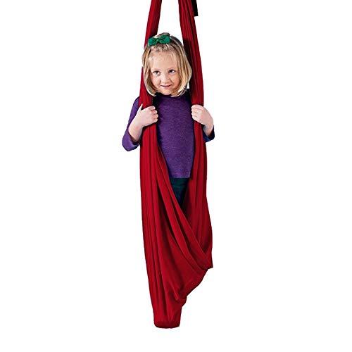 QHY Columpio sensorial de terapia de interior para niños con necesidades especiales hardware incluido Snuggle Cuddle hamaca para niños con autismo TDAH Aspergers terapia swing para niños