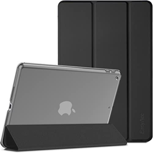EasyAcc Hülle Kompatibel mit iPad 10.2 Zoll 9. / 8. & 7 Generation, Modell 2021 2020 2019 - Superdünn Schutzhülle mit Transparenter Rückseite Abdeckung Cover mit Auto Schlaf Wach Funktion