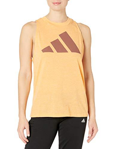 adidas womens Win 2.0 Tank Hazy Orange Melange Medium