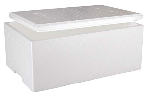 Sebutec Styroporbox EPS Kühlbox Außenmaß 60x40x26 cm mit Deckel