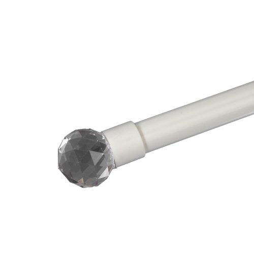 Liedeco Endstück für Gardinenstangen Facettkugel Power, ø 20 mm, 1 STK weiß