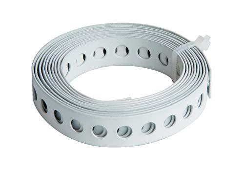 GAH-Alberts 334116 Lochband | mit oder ohne Abrollkasette | weiß kunststoffbeschichtet | Breite 12 mm | Länge 1,5 m
