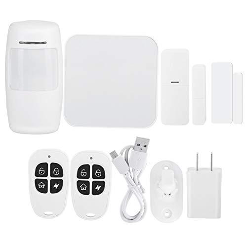 FOLOSAFENAR Tiempo de Espera prolongado Múltiples Formas de Alarma Control Remoto WiFi Inteligente Alarma de detección de Infrarrojos Alarma de Seguridad(US Standard 100-240V)