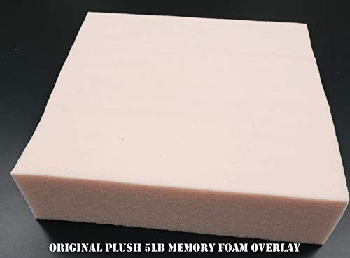 %30 OFF! 3 Plush Memory Foam Overlay Full/Double 3in x 54in x 75in