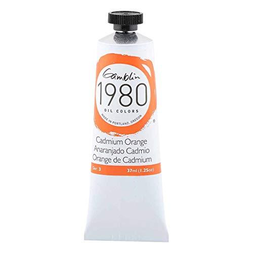 Gamblin 1980 Oil Cadmium Orange 37Ml