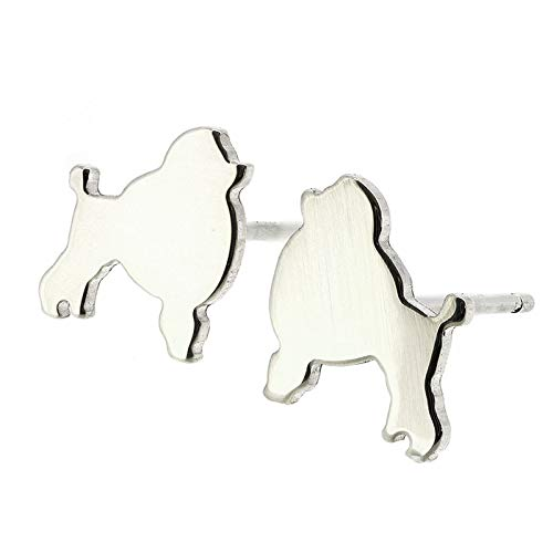Poodle Dog Stud Max 69% OFF Earrings Polished Silver US in Sterling Handmade service