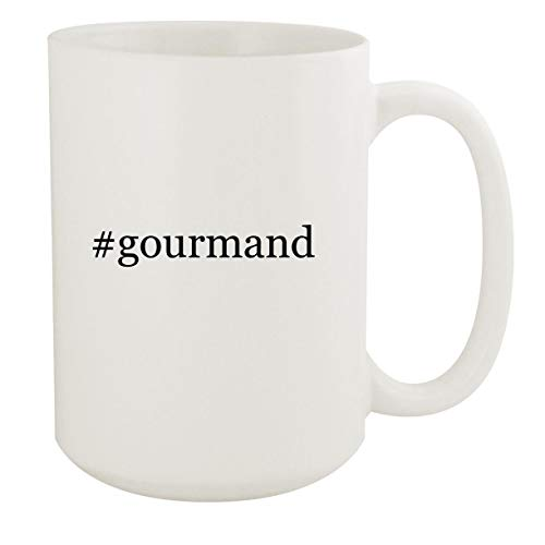 #gourmand - 15oz Hashtag White Ceramic Coffee Mug