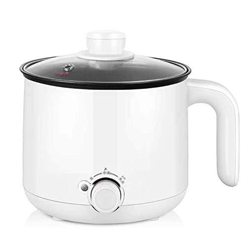 KSW_KKW Étudiant Dortoir Chambre ménagers Multifonctions Cuisinière électrique Mini Hot Pot 1 Personne 2 Petit Pot Wattage Petit Pot électrique (Color : White)