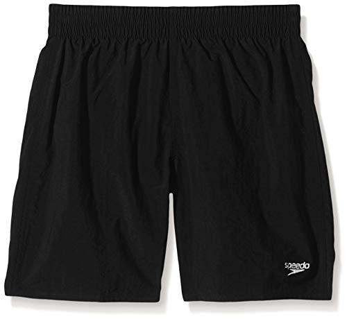 Speedo Solid Leis Wsht Jm, Pantaloncini da Bagno Bambino, Nero (Black), XL