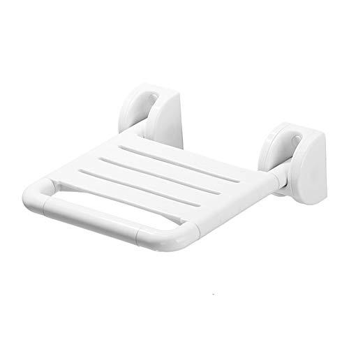 LIULIFE Duschsitz Wand-faltender Sitz-Badezimmer-Duschehocker-Hauptgang-Schuh-Änderungs-Schemel ältere Hilfsmöbel,White-Withoutlegs