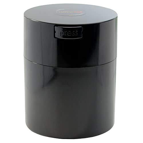 Coffeevac 1/2 lb - The Ultimate Vacuum Sealed Coffee Container, Black Cap & Body