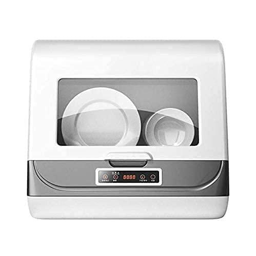Tragbarer Mini Geschirrspüler kompakter Spülmaschine Tischgeschirrspüler vollintegriert 3 Waschmodus Hochtemperaturreinigung Luftgetrocknet für Wohnungen Schlafsäle und Wohnmobile