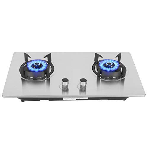 Eingebauter Herd LPG-Gasherd, ausgestattet mit 2 Universalbrennern, Doppelherd-Gasherd mit gleichmäßiger Wärmeableitung, geeignet für den Außenbereich in Familienküchen und Wohnwagen, 40x71x9,2 cm