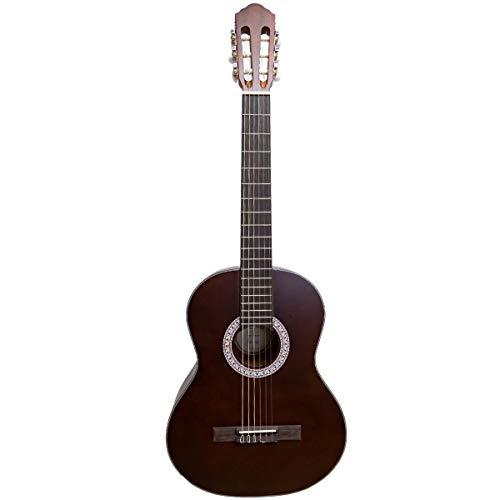 Santana B8 BW EQ v2 - Guitarra clásica (satén), color marrón