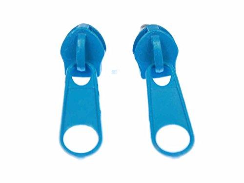 Reißverschluss Ohrstecker Miniblings Zipper Stecker Ohrringe Upcycling türkis rund